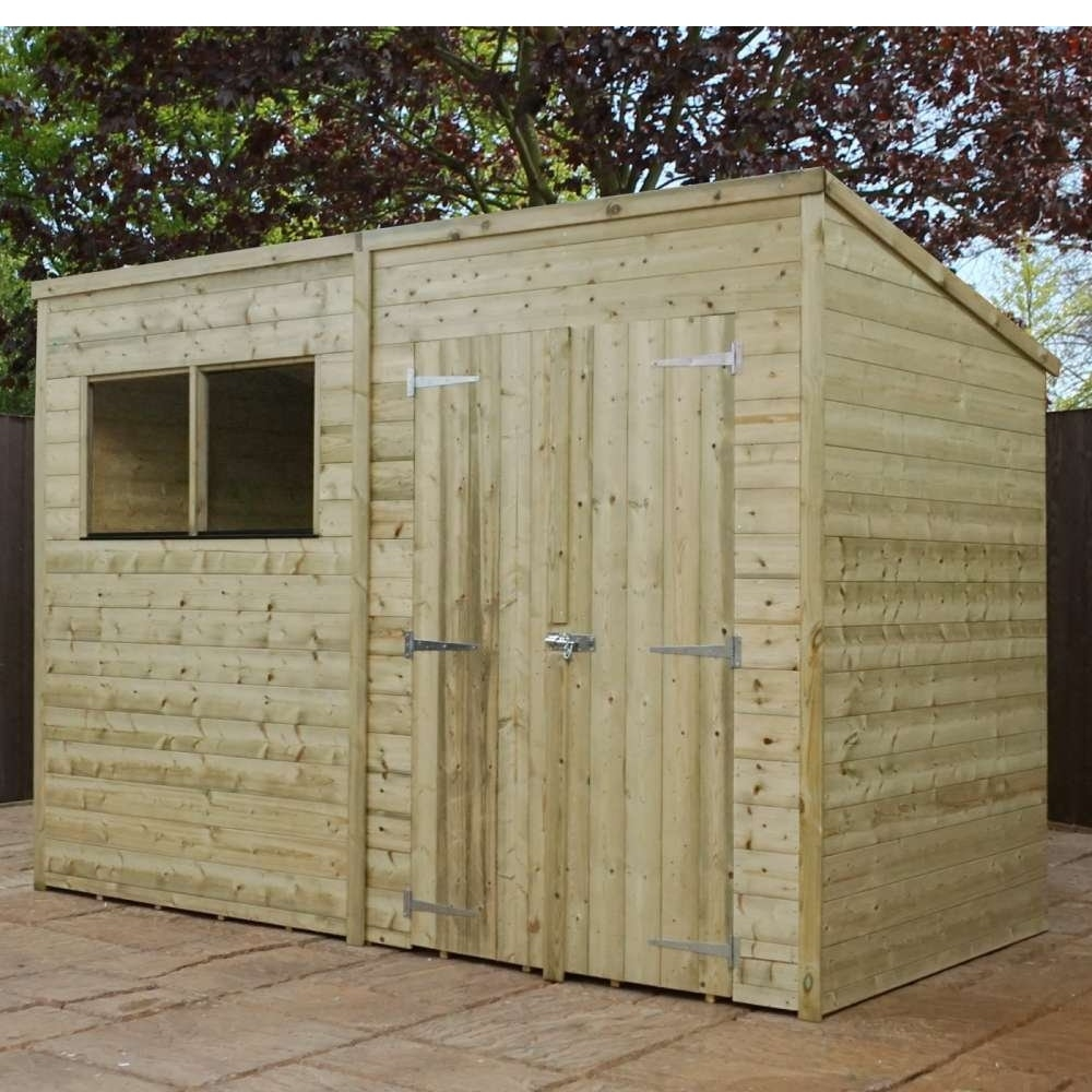 Image of 10' x 6' Pressure Treated Wooden Pent Shed