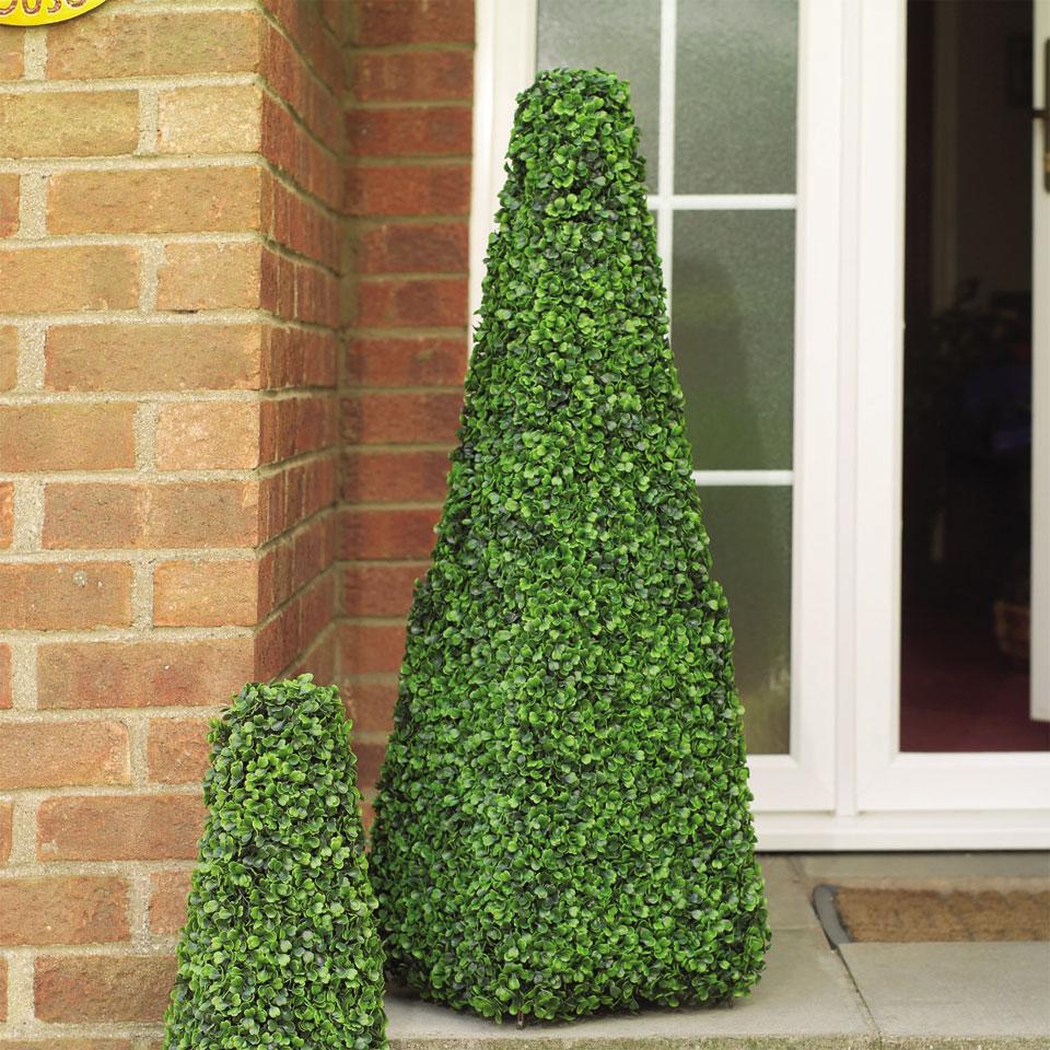 100cm Faux Leaf Effect Topiary Obelisk
