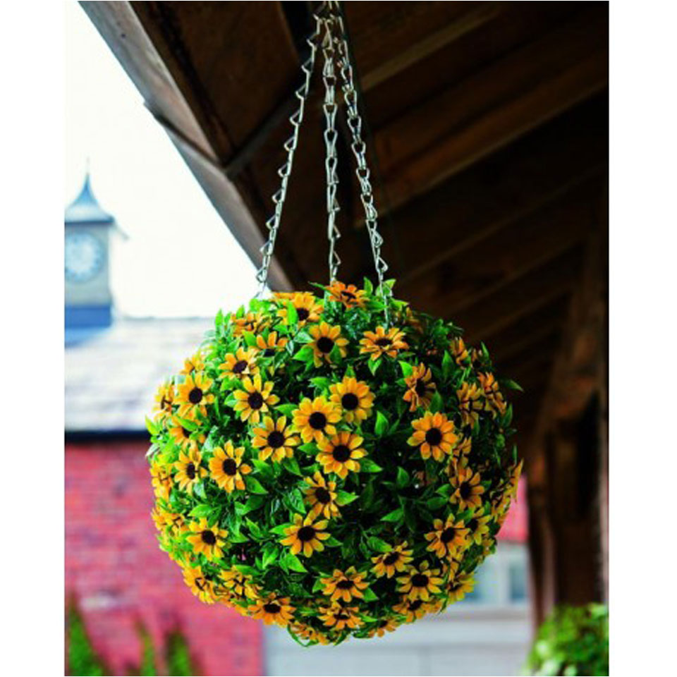 25cm Floral Effect Topiary Ball
