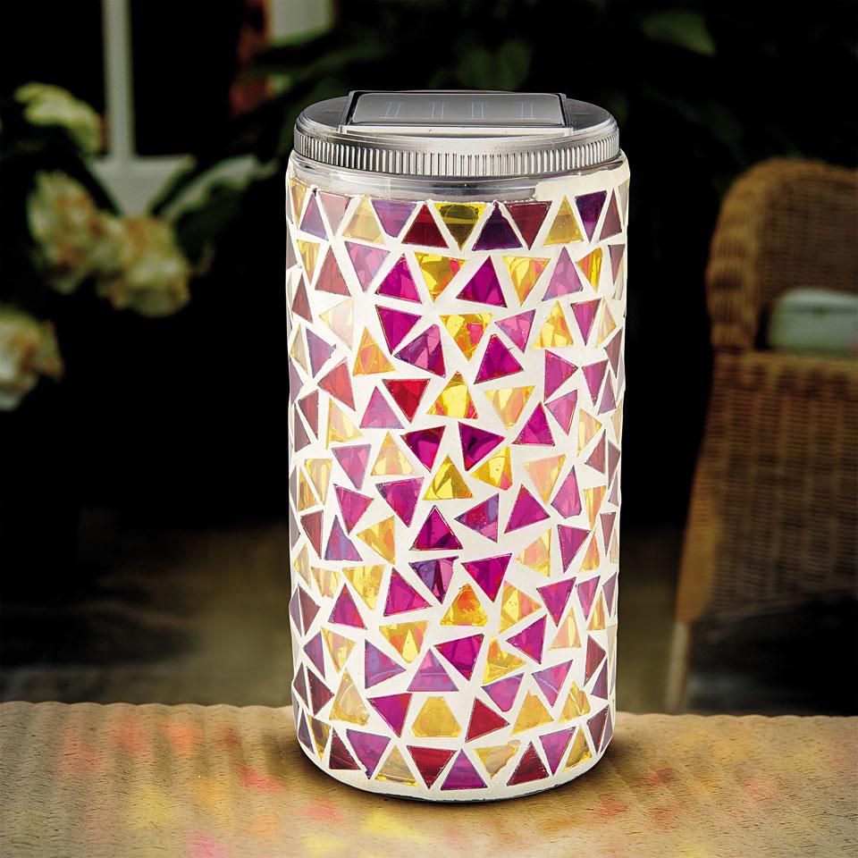 Solar Mosaic Table Lantern