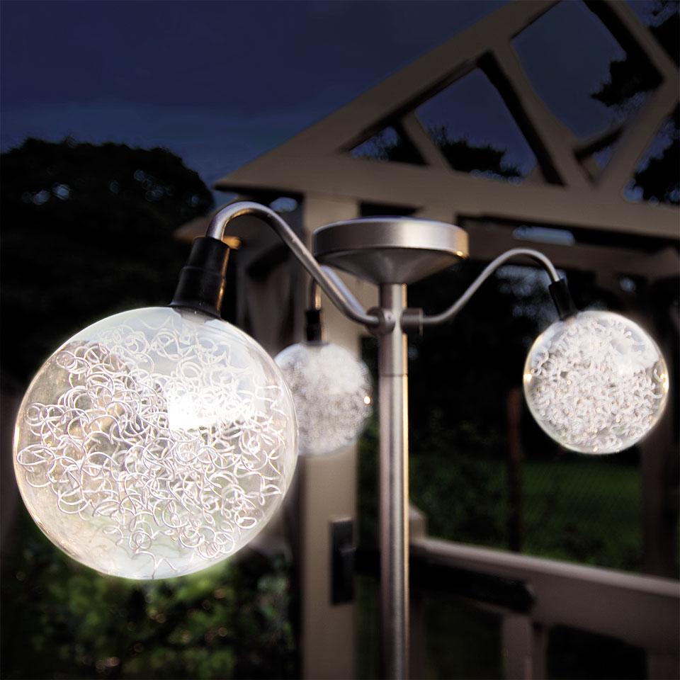Solar 3 Globe Promenade Light