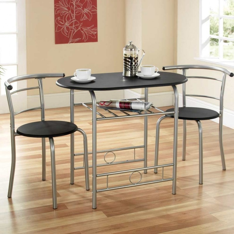 Image of Compact Dining Set (Black / Silver)
