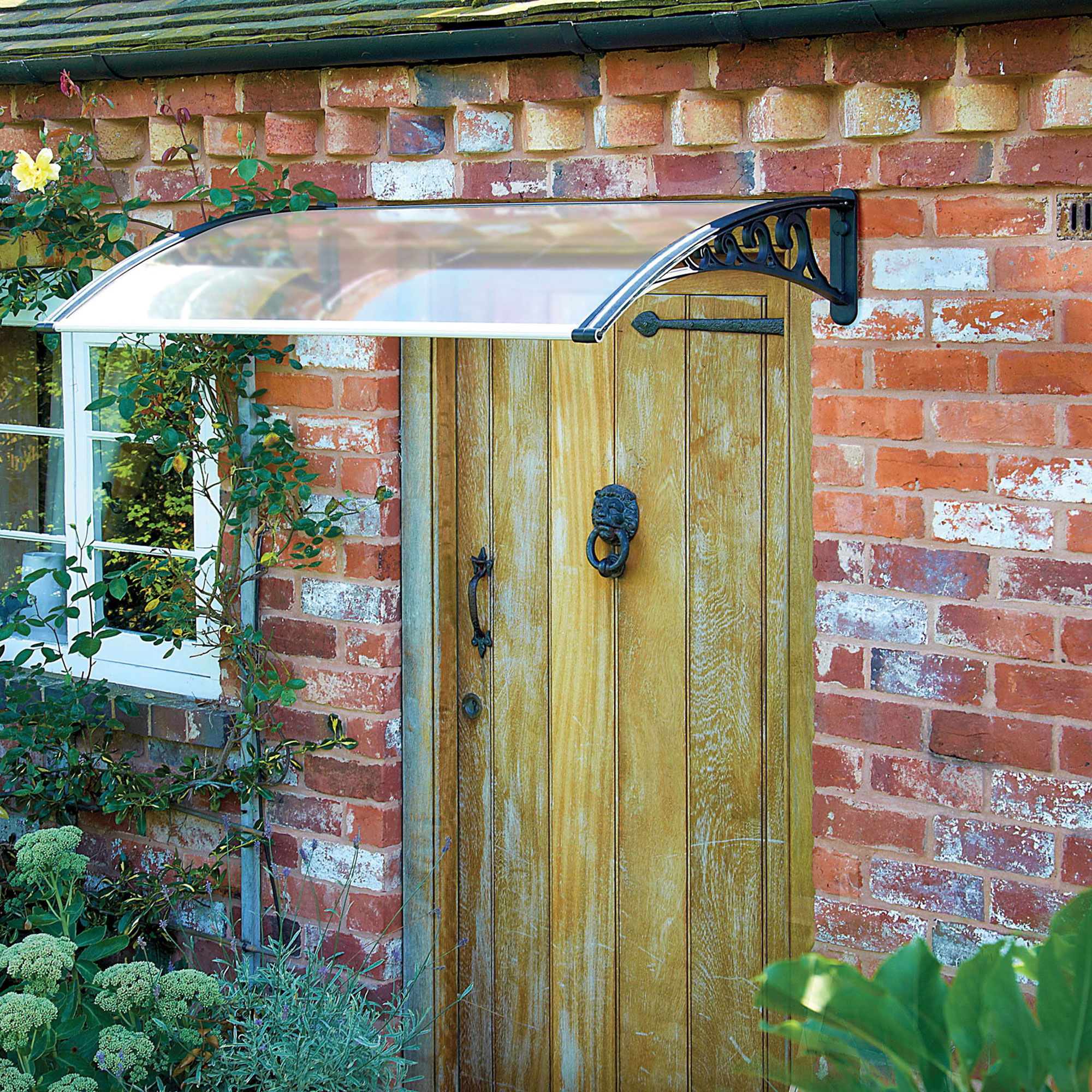 1m Black Easy-it Door Canopy