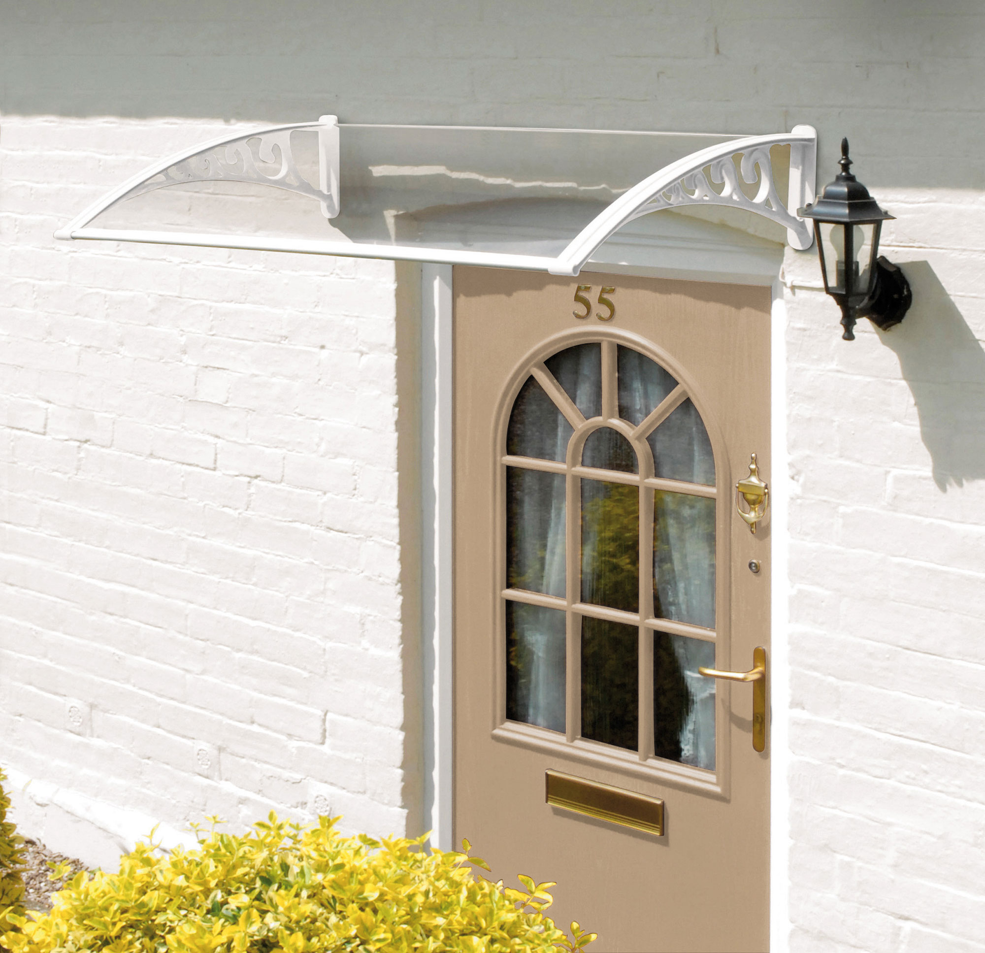 1m Easy Fit Door Canopy (White)