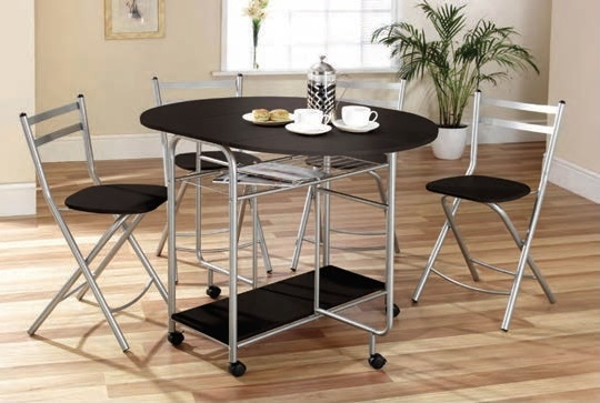 Image of Stowaway Dining Set (Black / Silver)