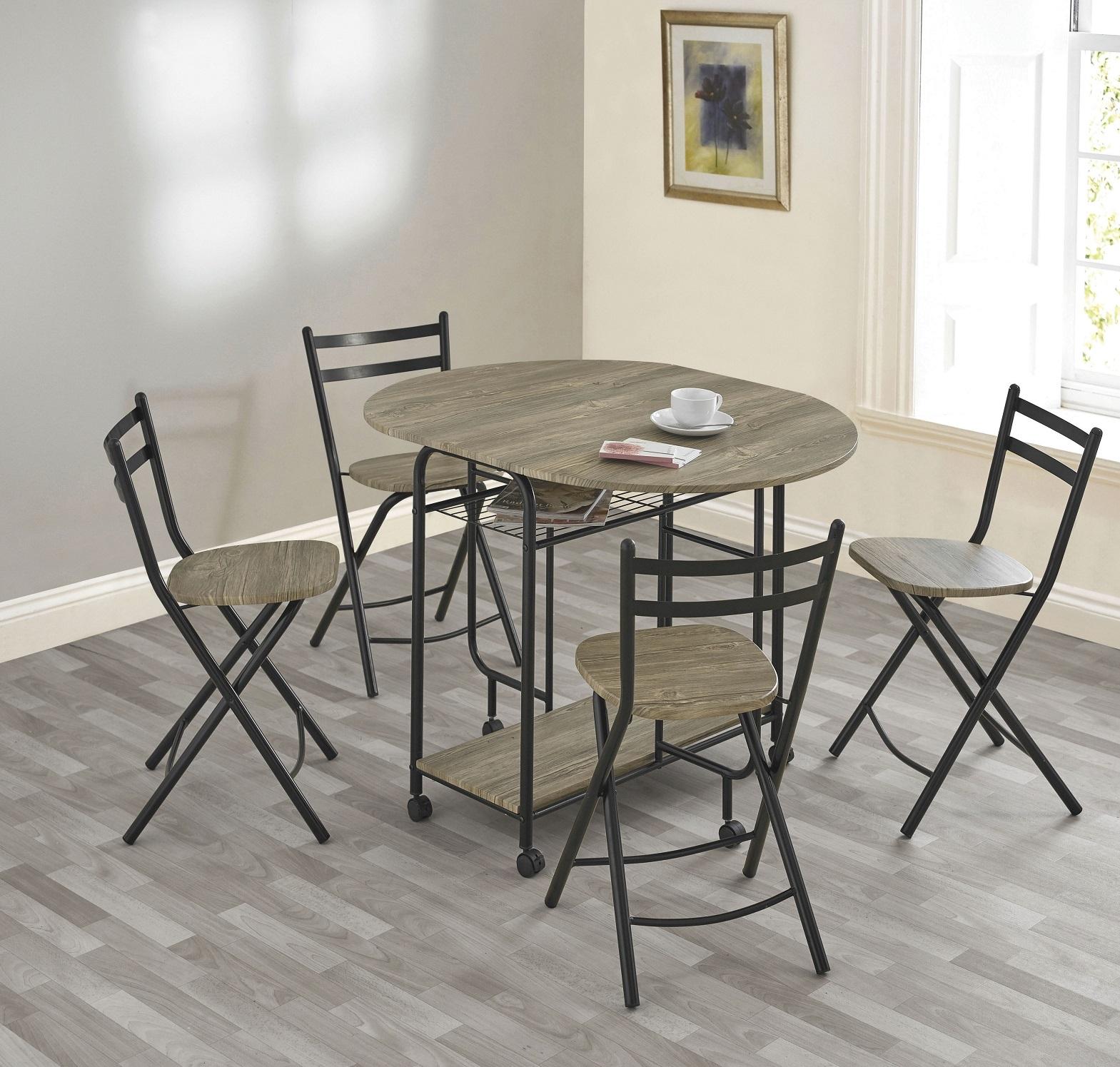 Image of Stowaway Dining Set (Grey / Black)