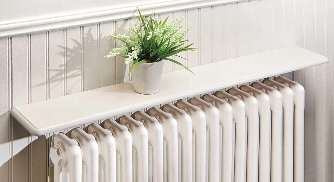 Image of Easy Fit White Radiator Shelf 60cm