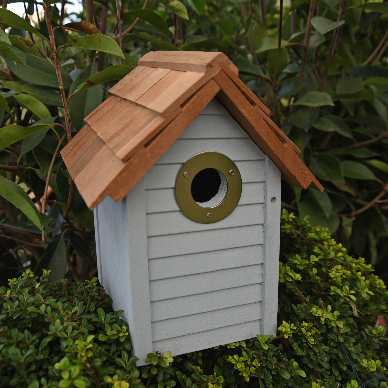 Blue Beach Hut Nest Box