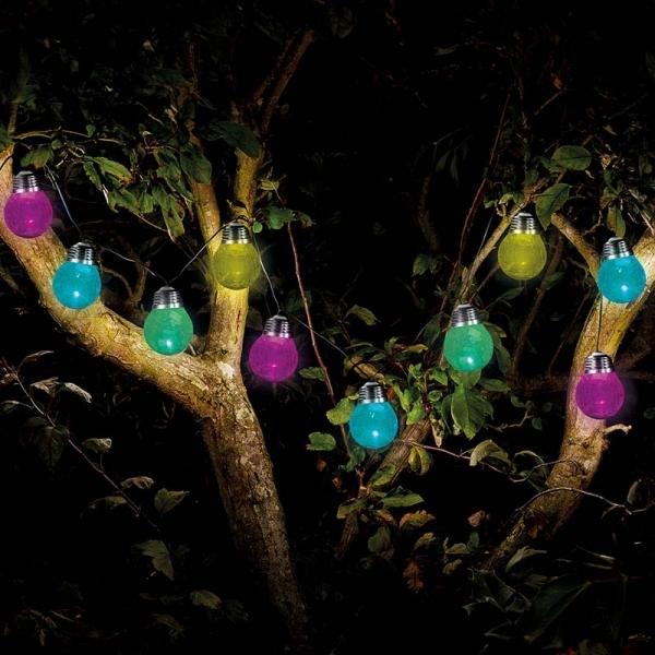 Image of 10 crackle globe string lights