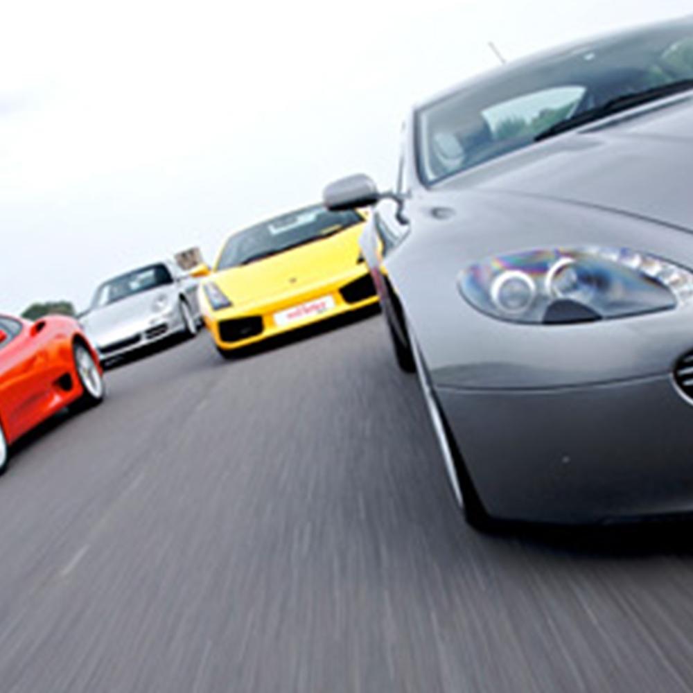 Quadruple Supercar Blast and Hot Ride