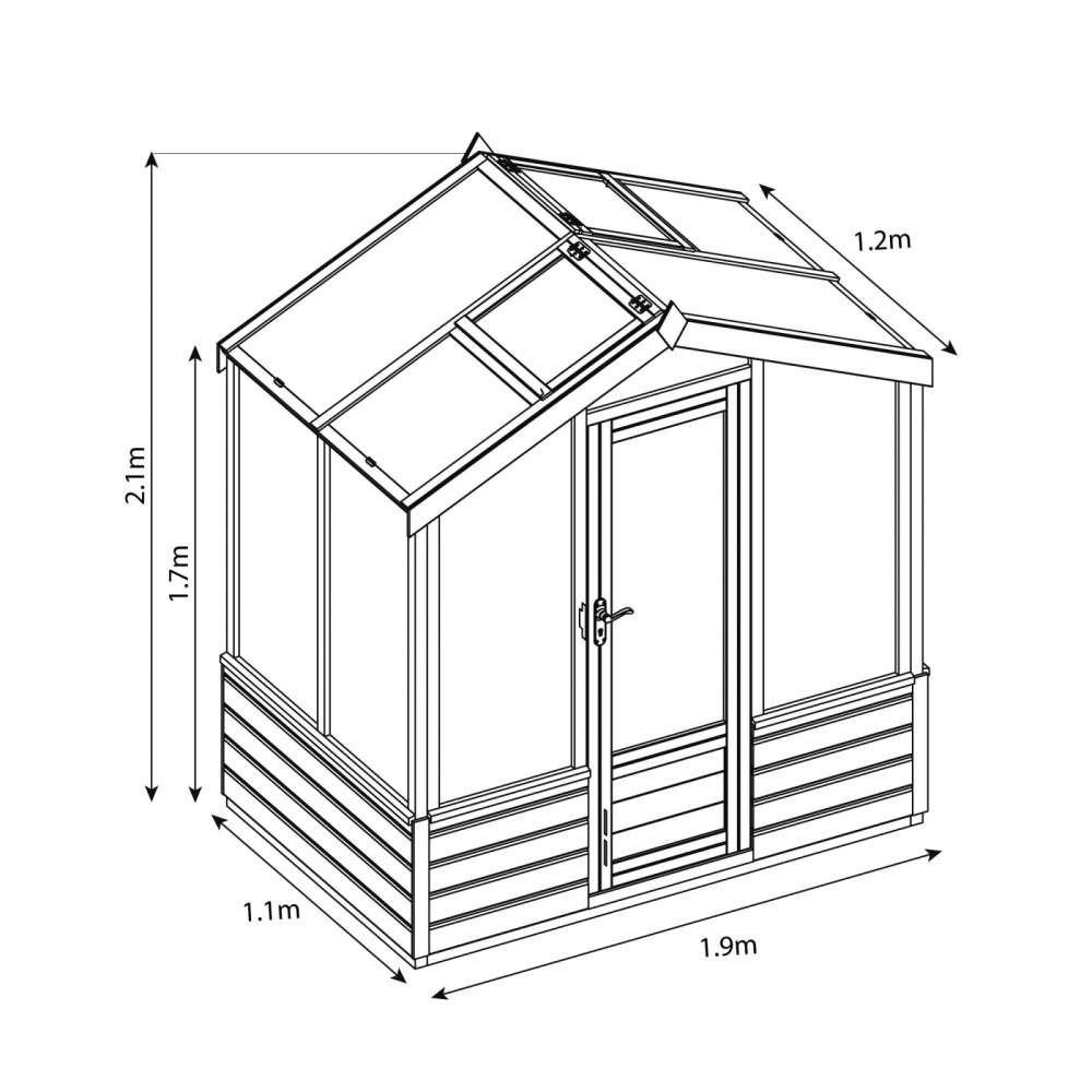4' x 6' Premium Greenhouse