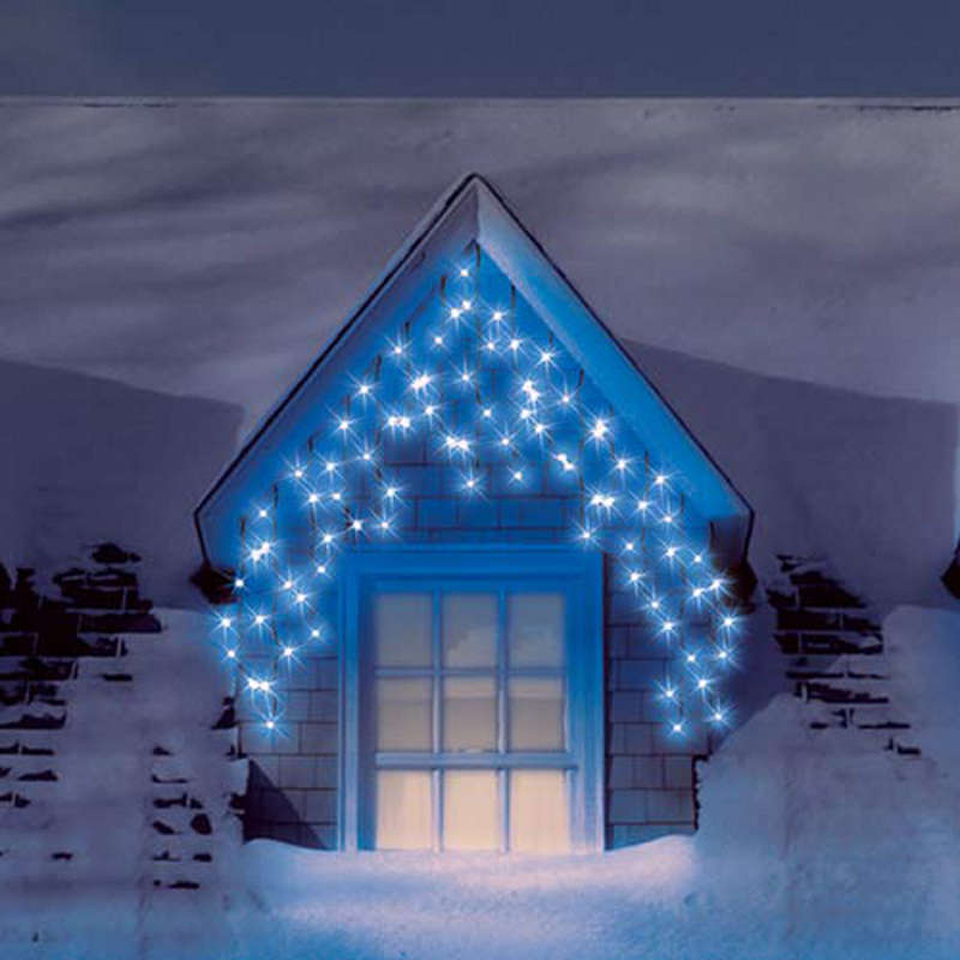 300 Blue Connectable Icicle Lights