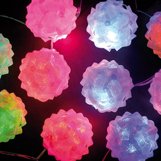 10 Battery Operated Colour Changing Snowball Lights