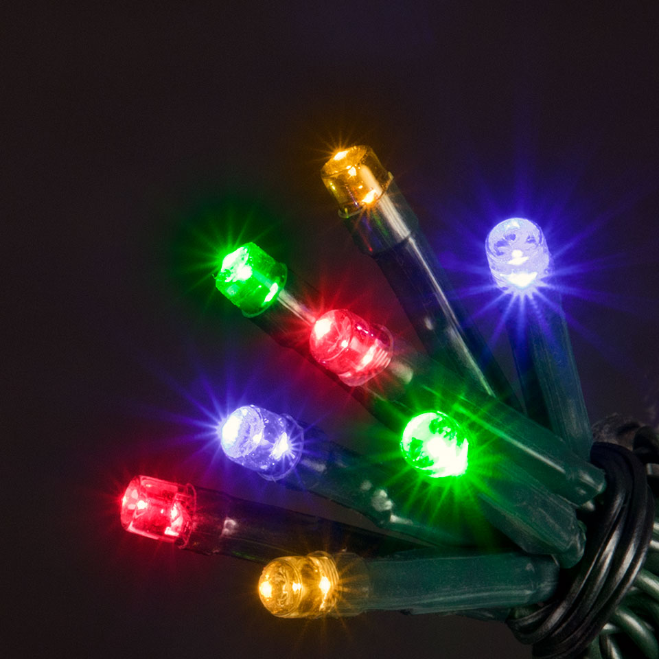 Battery Operated 100 Multi-Colour Chaser Lights