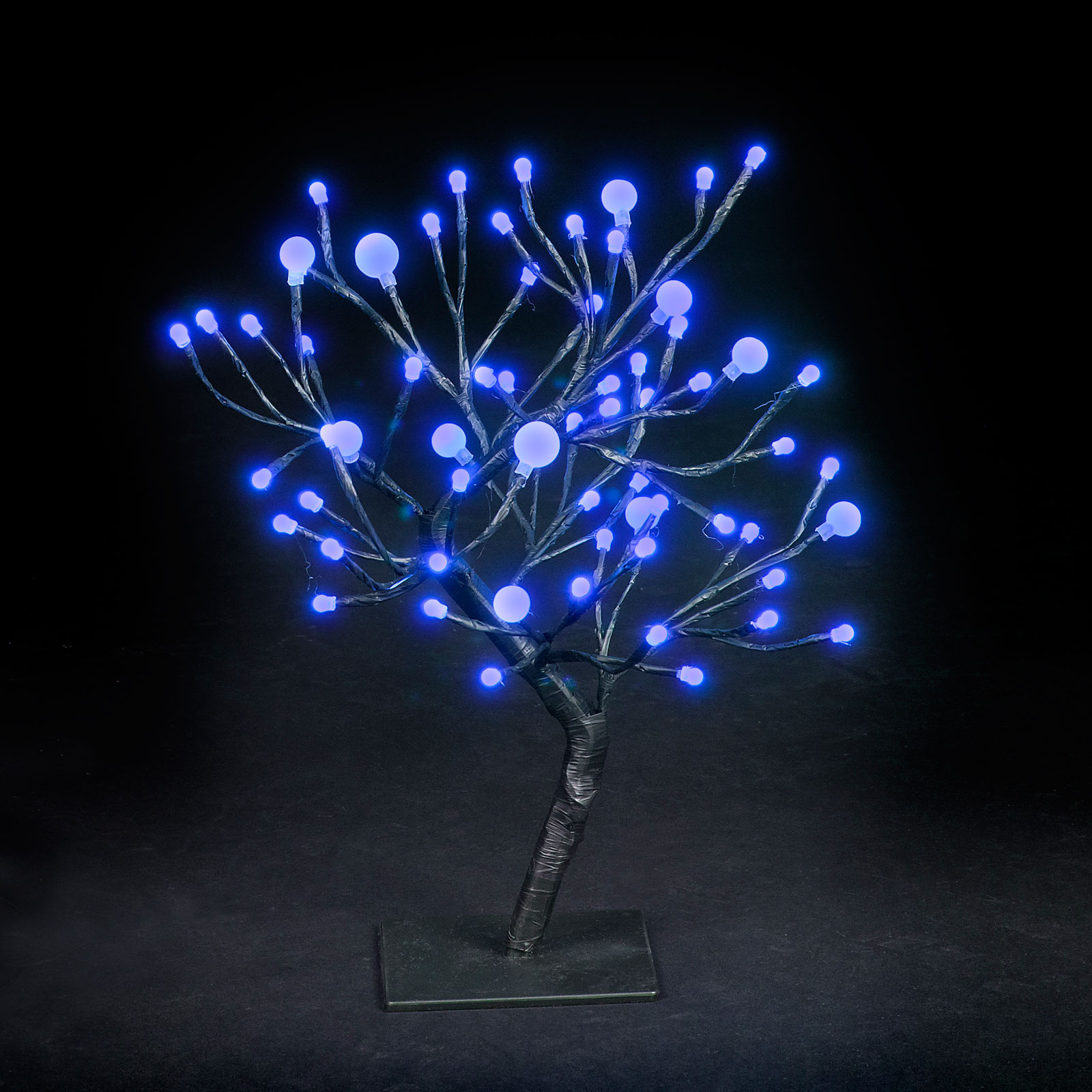 18in/45cm Dual Size Globe Tree with 64 Electric Blue LEDs