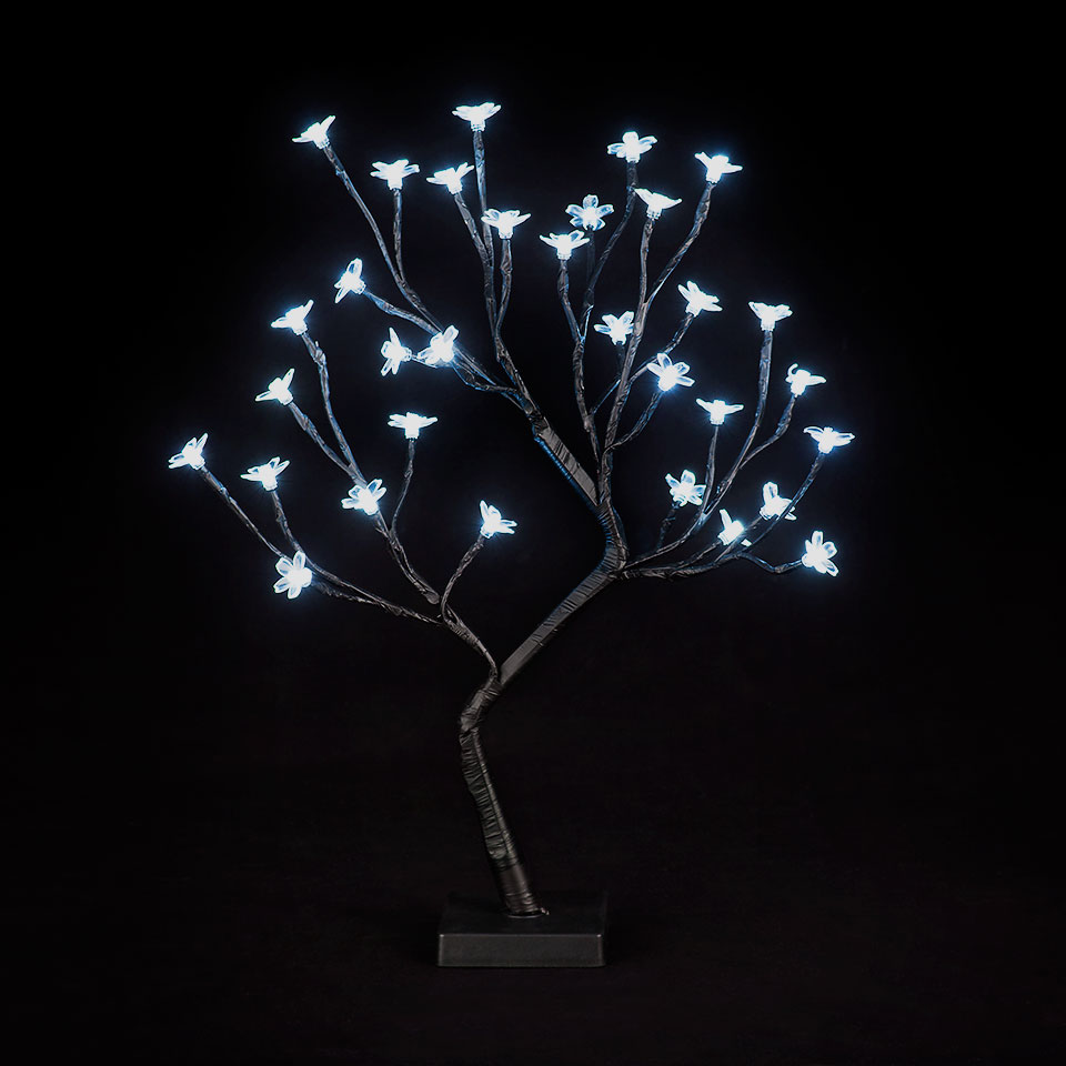Battery Operated 18in/45cm Cherry Blossom Tree with 32 Ice White LEDs