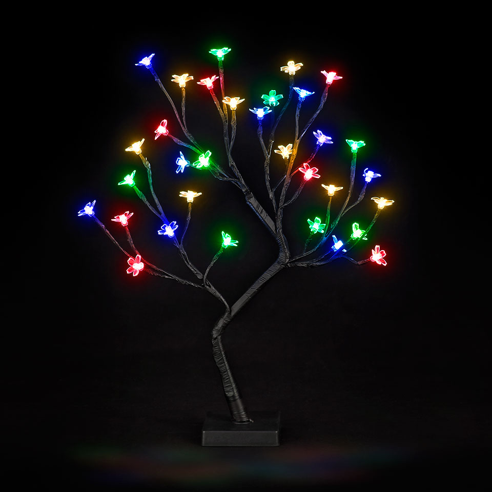 Battery Operated 18in/45cm Cherry Blossom Tree with 32 Multi-Colour LEDs