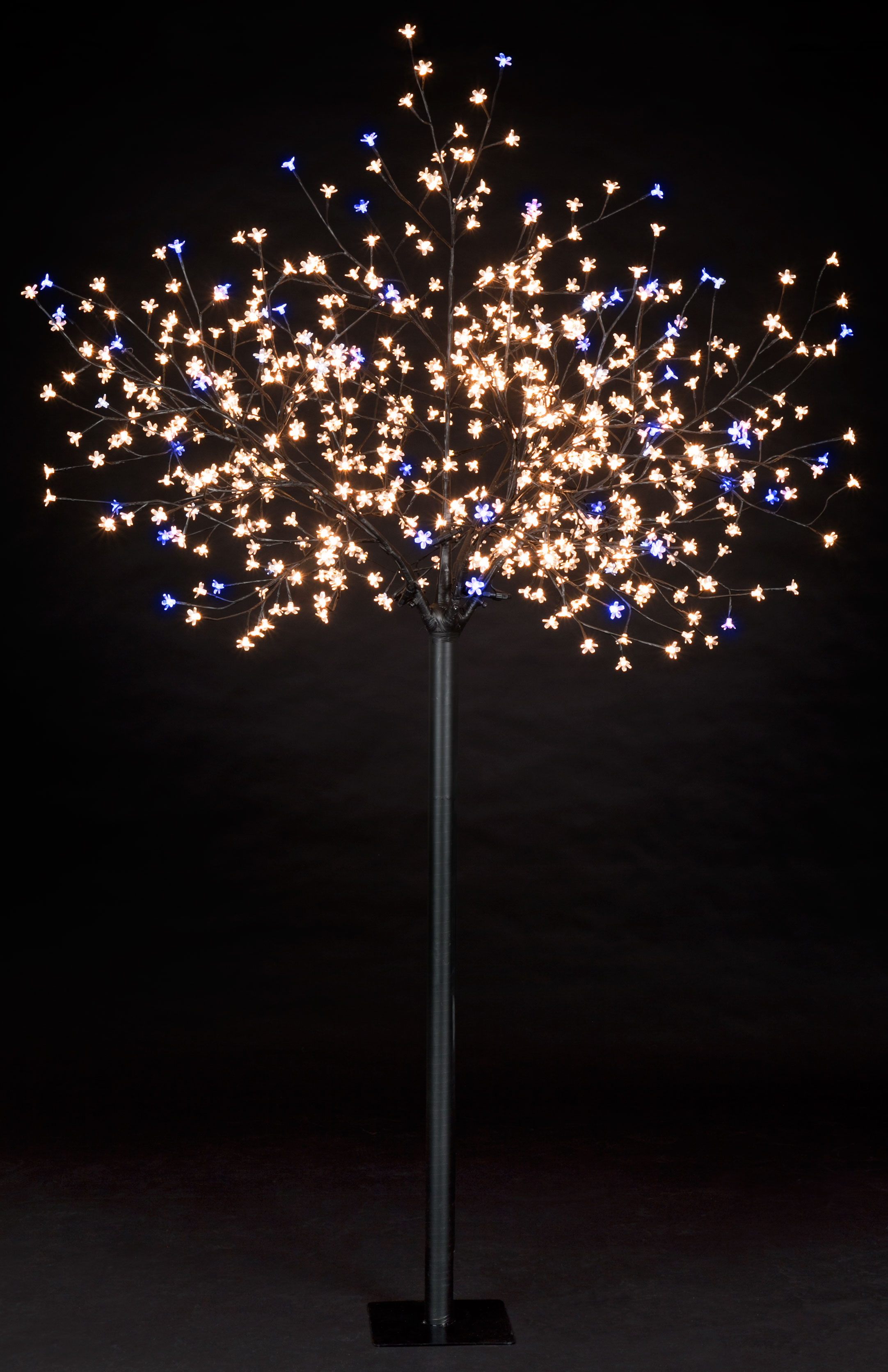 7ft Cherry Blossom Tree with 540 Warm White & 60 Ice White Flashing LEDs