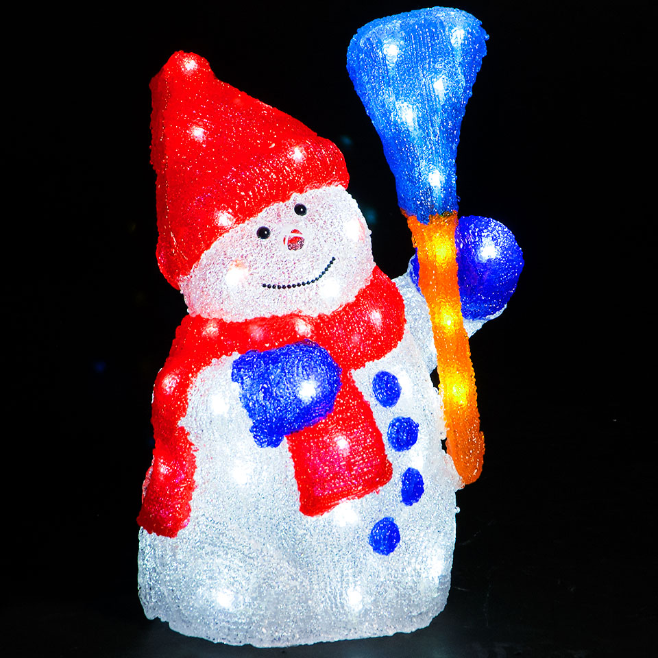 44cm  Snowman with 56 Static White LEDs
