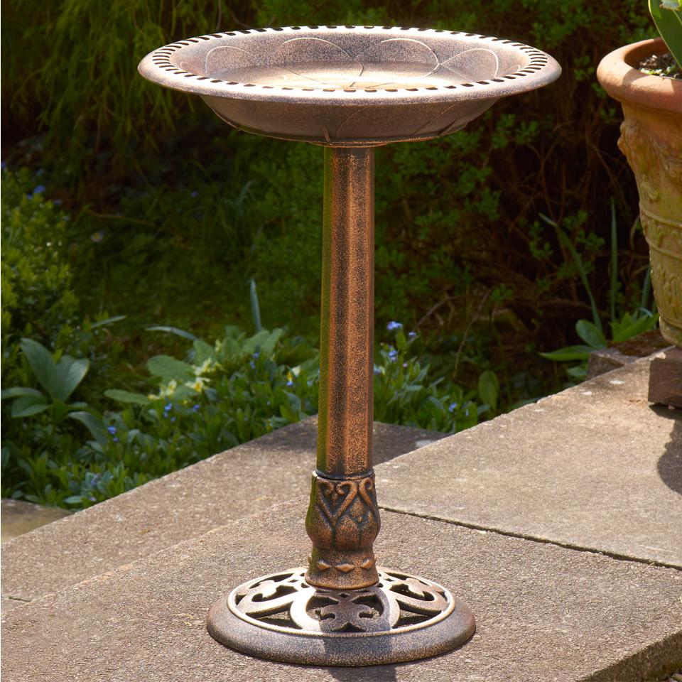 Bronze Bird Bath Feeder