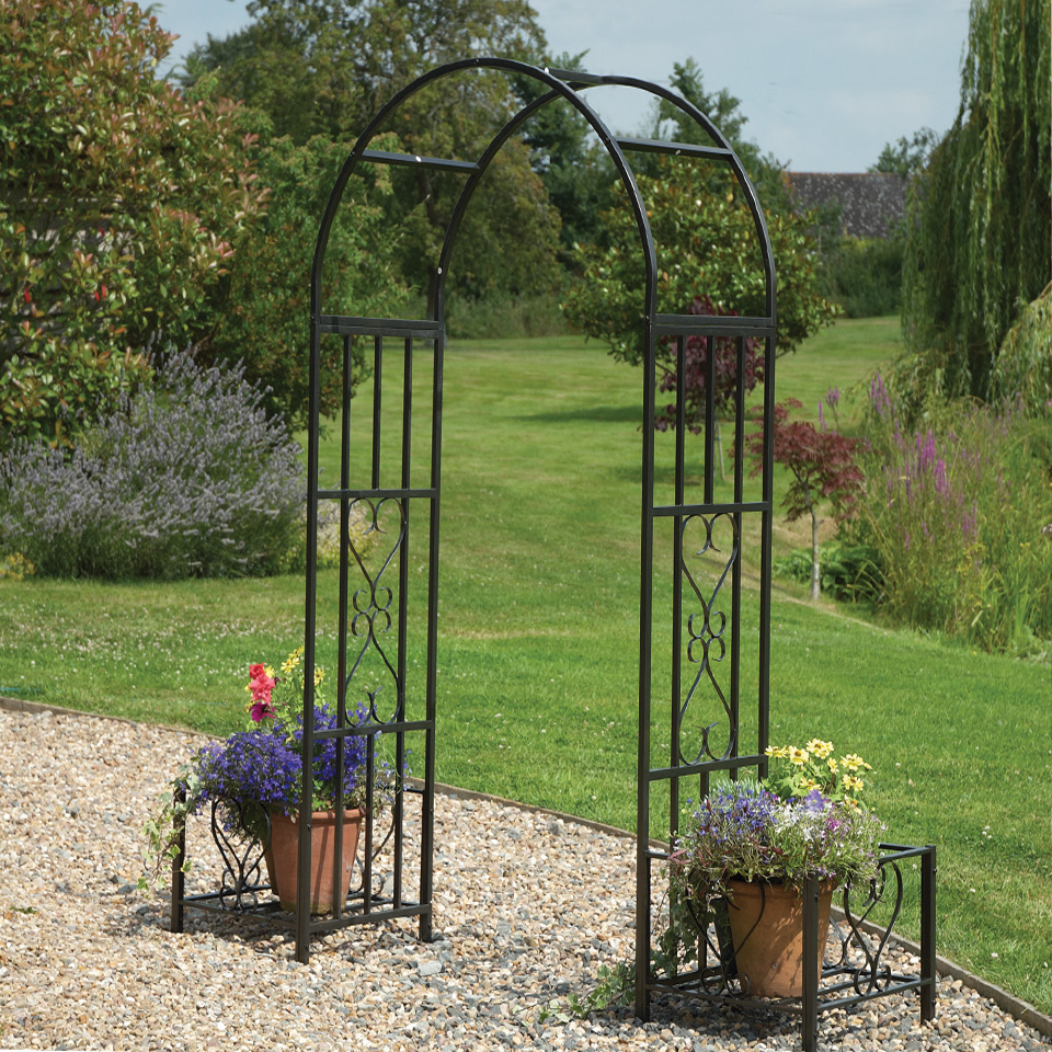 Cavendish Ornamental Arch and Planters