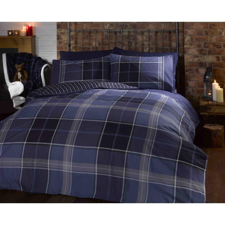 Rapport Heritage Argyle Double Quilt Set Blue