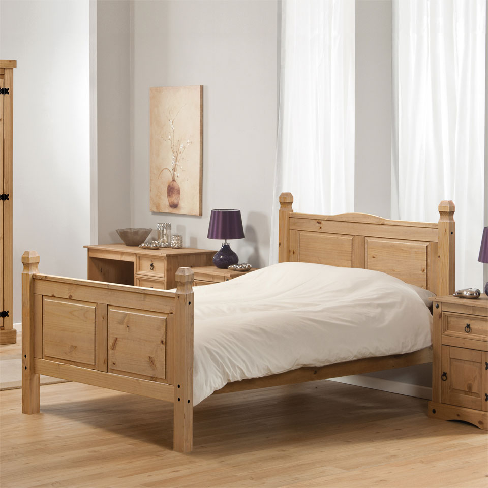 Aztec Corona Mexican Solid Pine Double Bed Frame