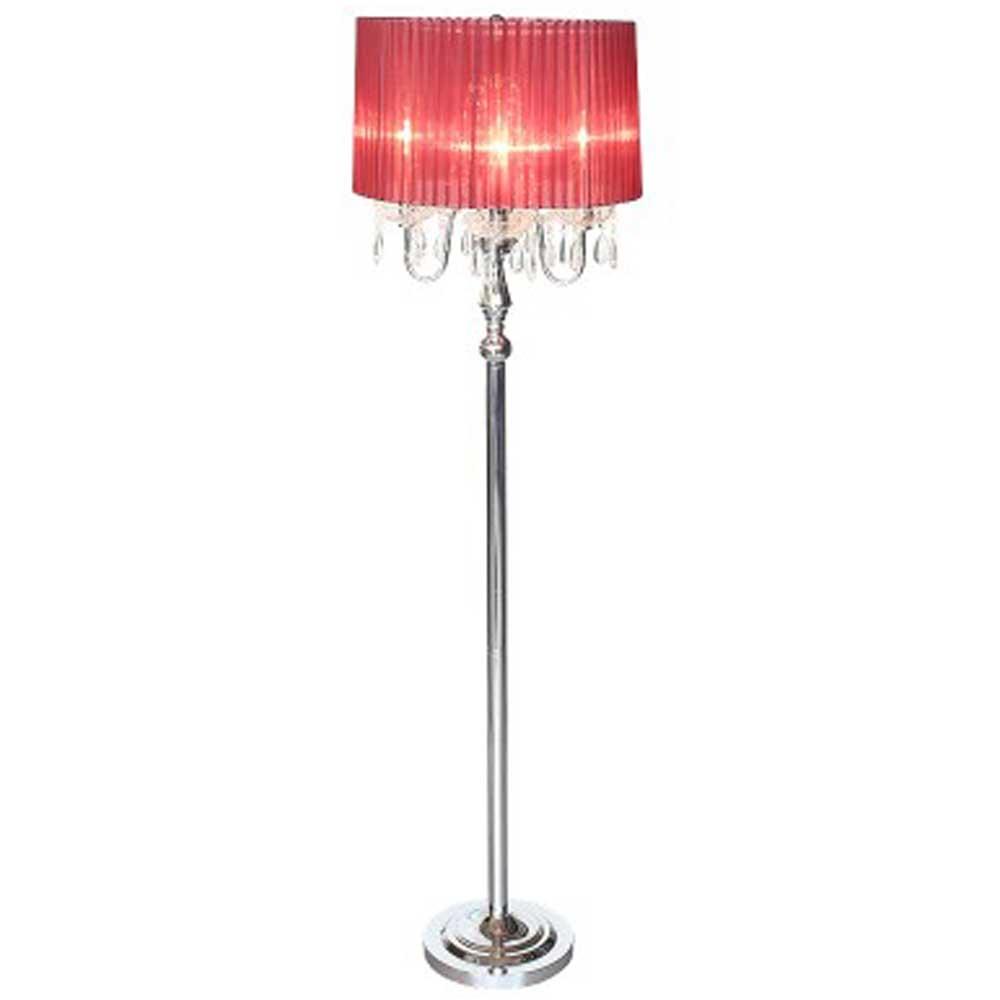 Beaumont Four Light Floor Lamp (Red)