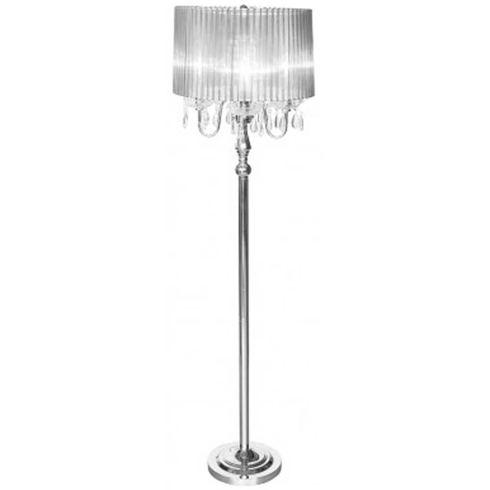 Beaumont Four Light Floor Lamp (Silver)