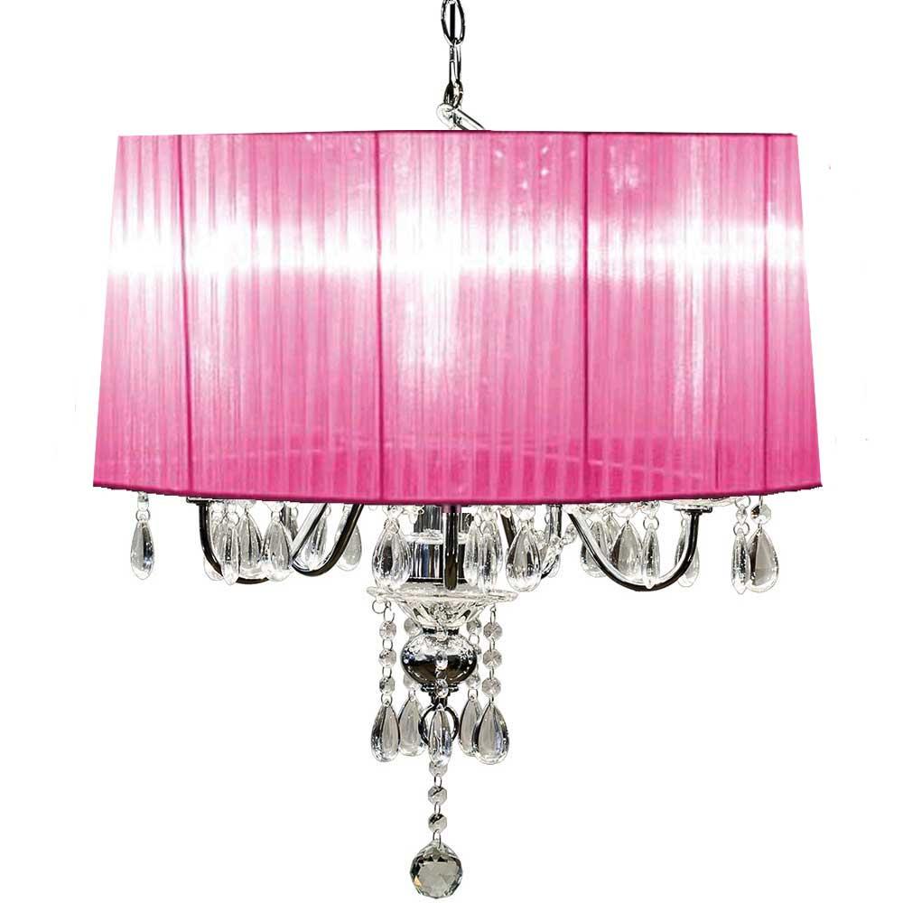 Beaumont Five Light Chandelier (Pink)