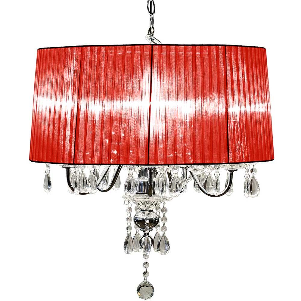 Beaumont Five Light Chandelier (Red)