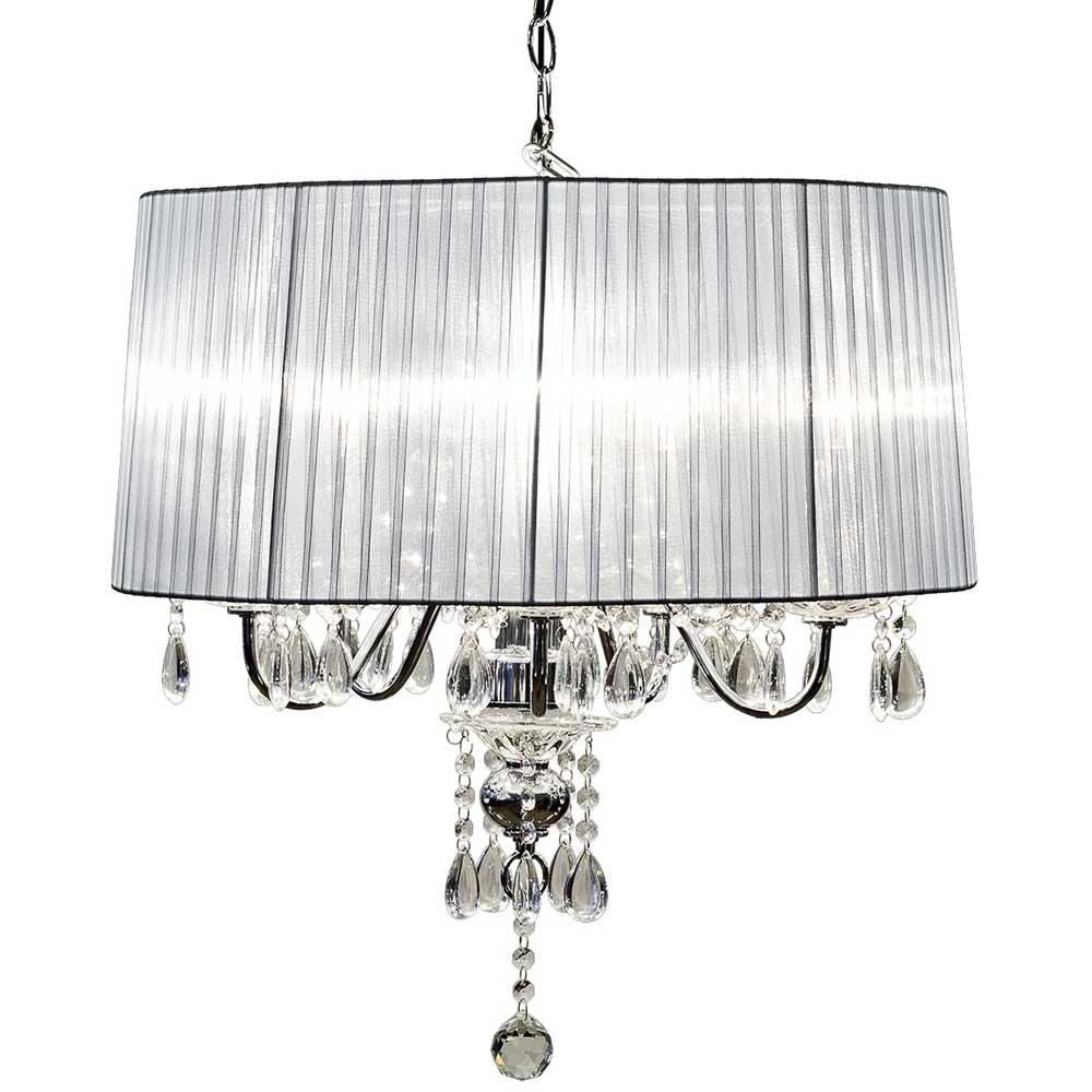 Beaumont Five Light Chandelier (Silver)