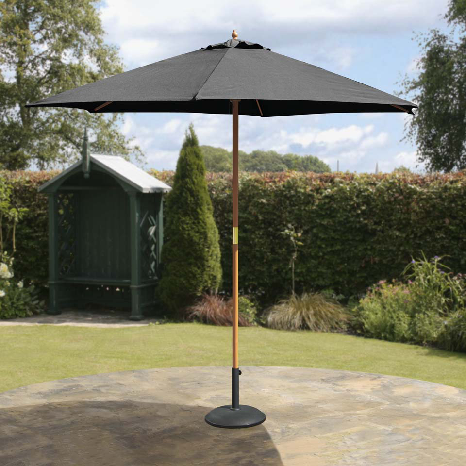 Suntime 2.7m Hardwood Black Market Parasol