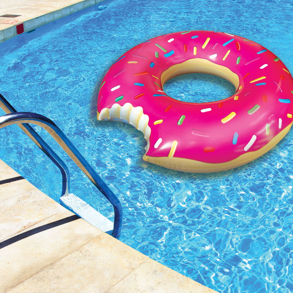 Gigantic Doughnut Inflatable Pool Float