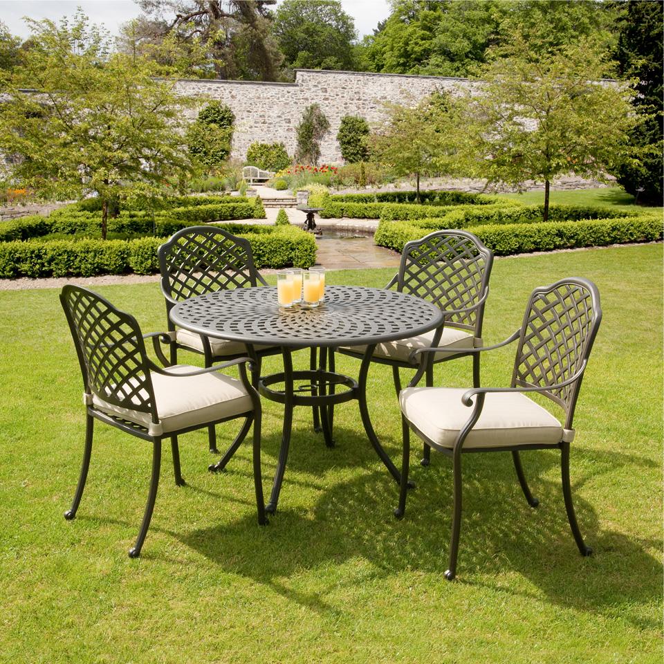 Suntime Buckingham 1m Cast Aluminium Patio Furniture Set