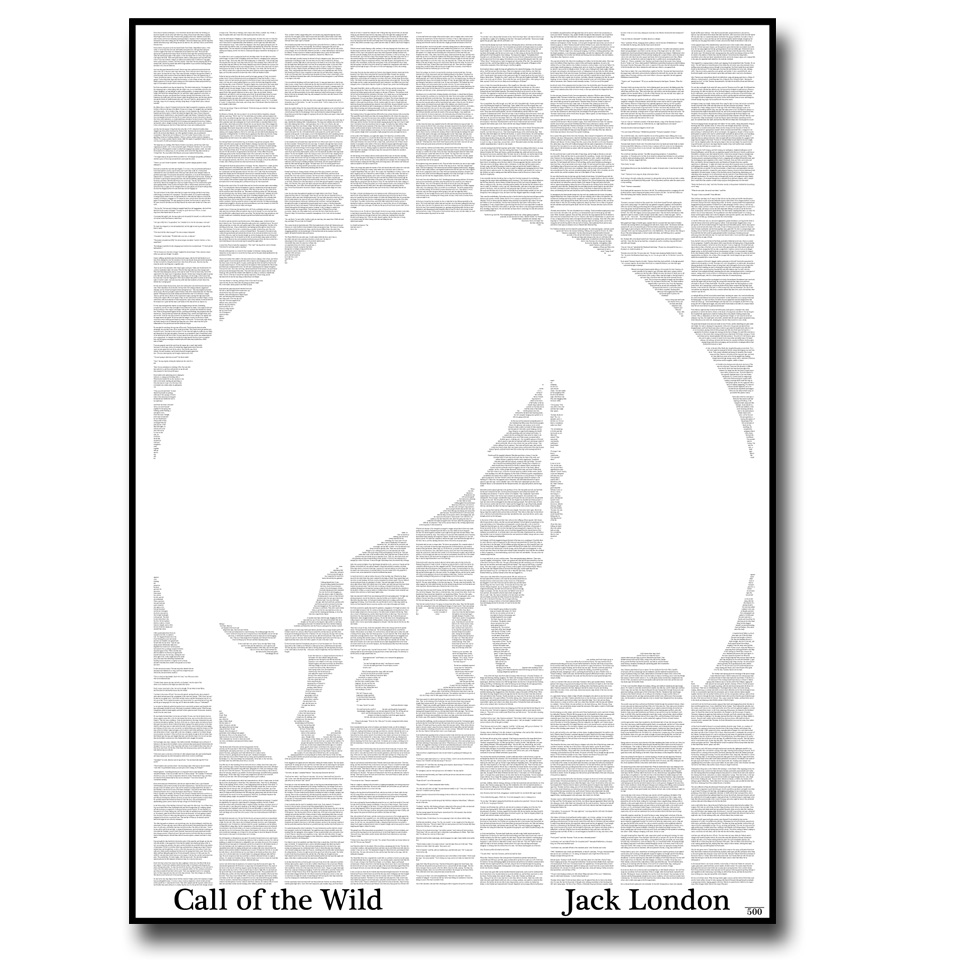 The Call of the Wild Text Wall Print
