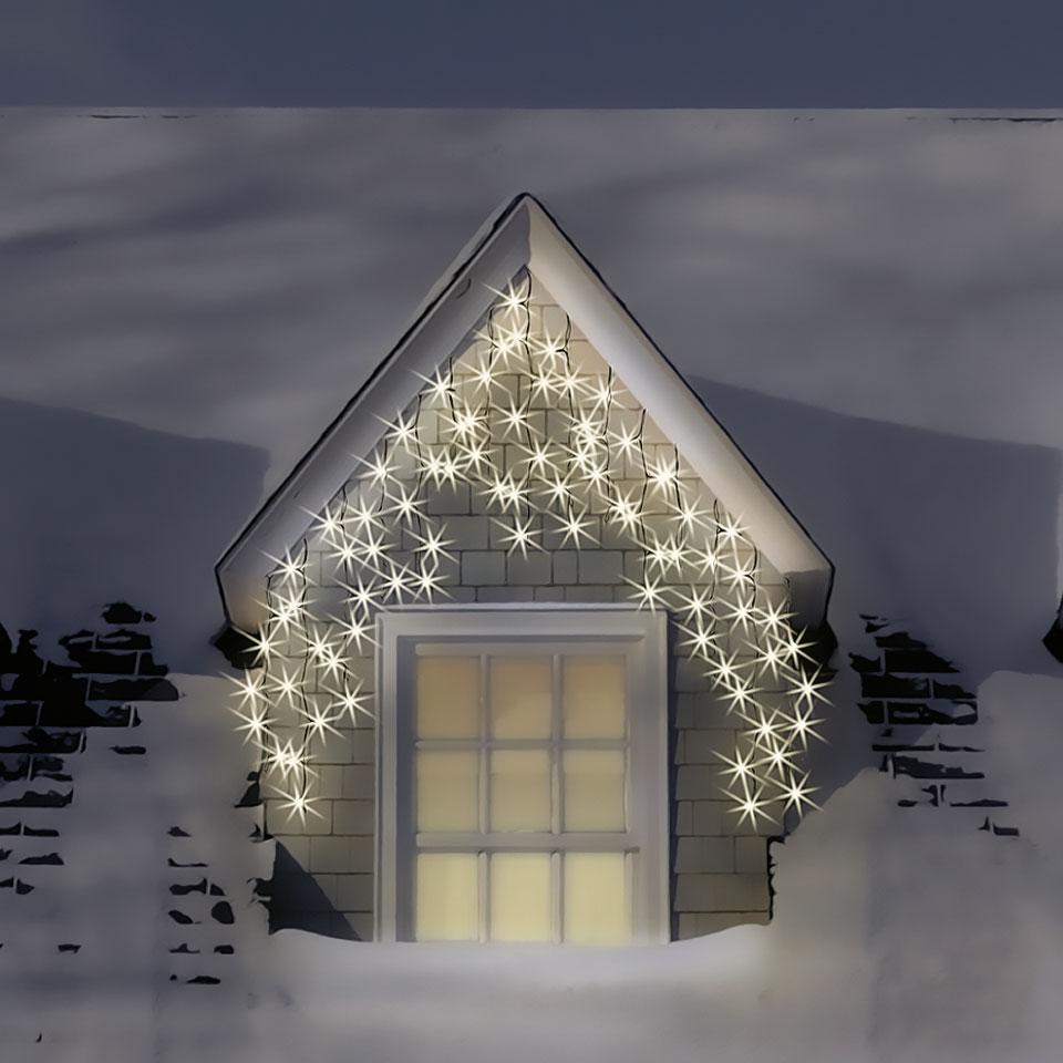 120 Warm White & Ice White LED Multi-Function Icicle Lights