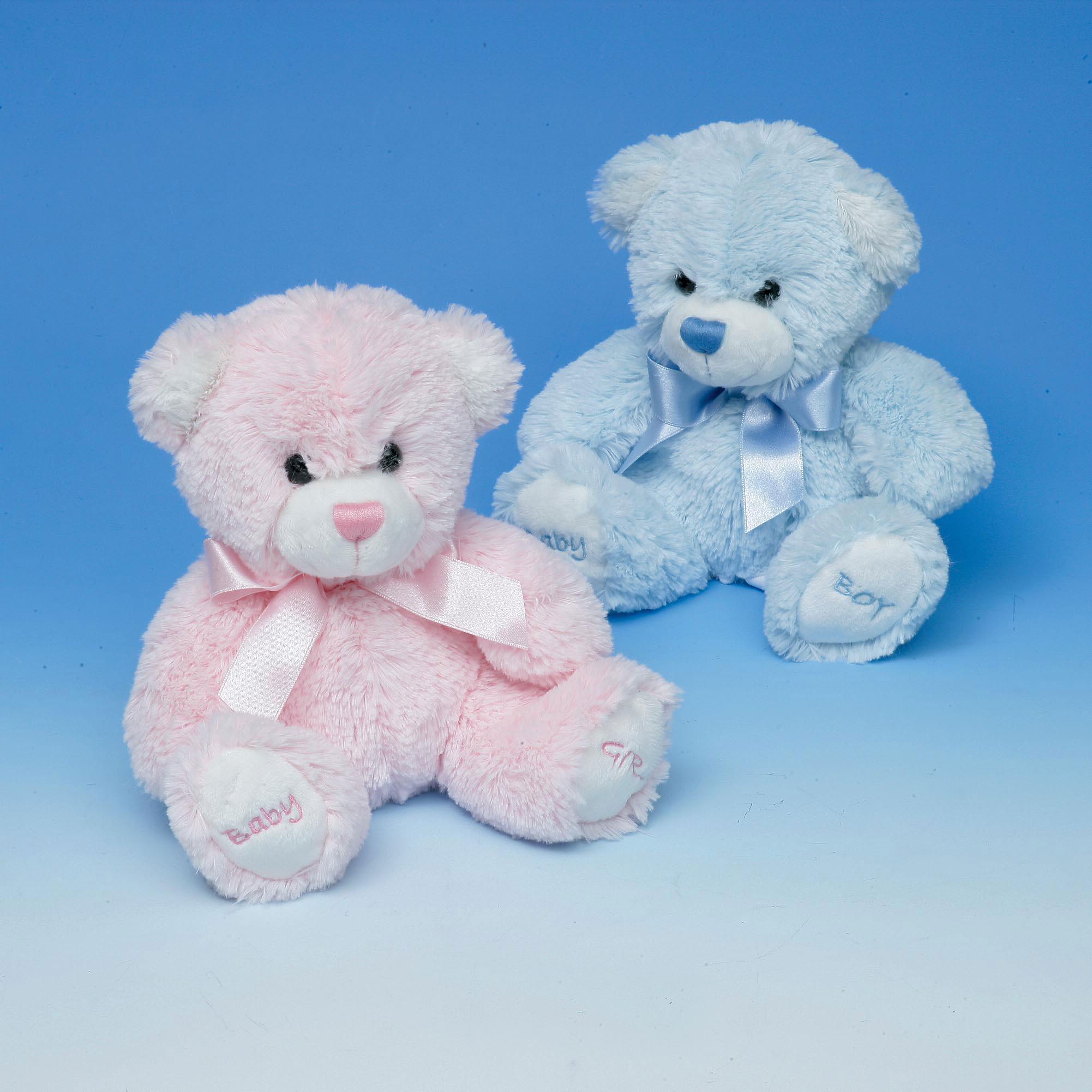 18cm BLUE Baby's First Teddy