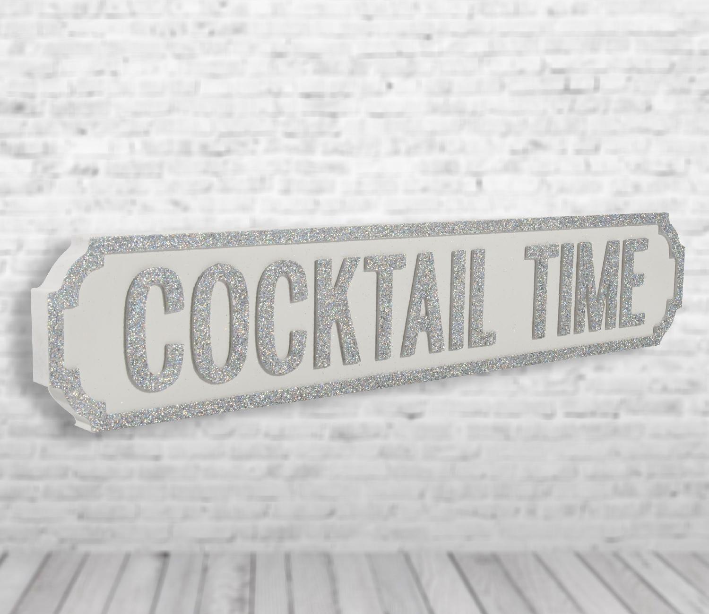 Image of Cocktail Time Vintage Road Sign