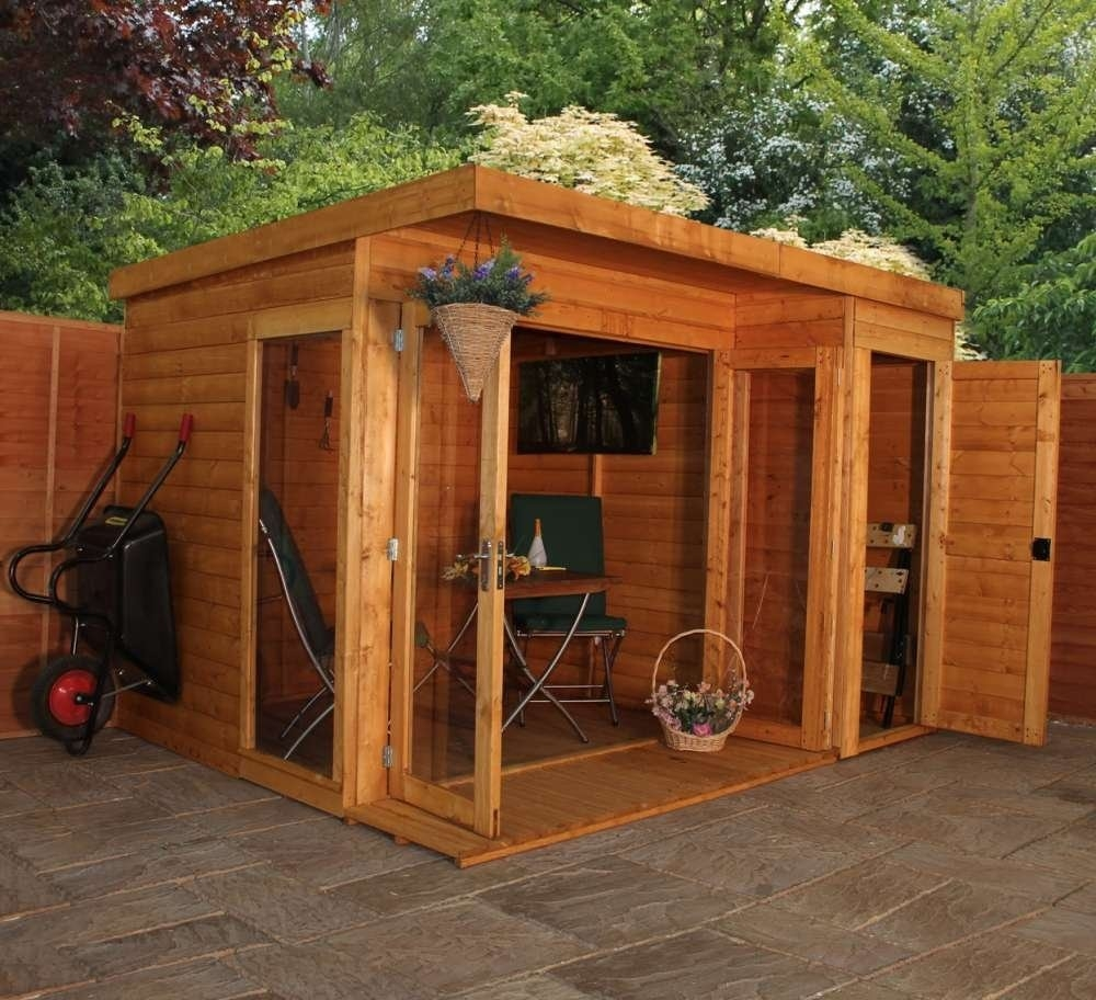 Image of 10' x 8' Premium Garden room with side shed