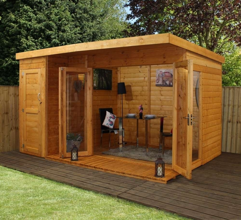 12' x 8'  Premium Garden room with side shed