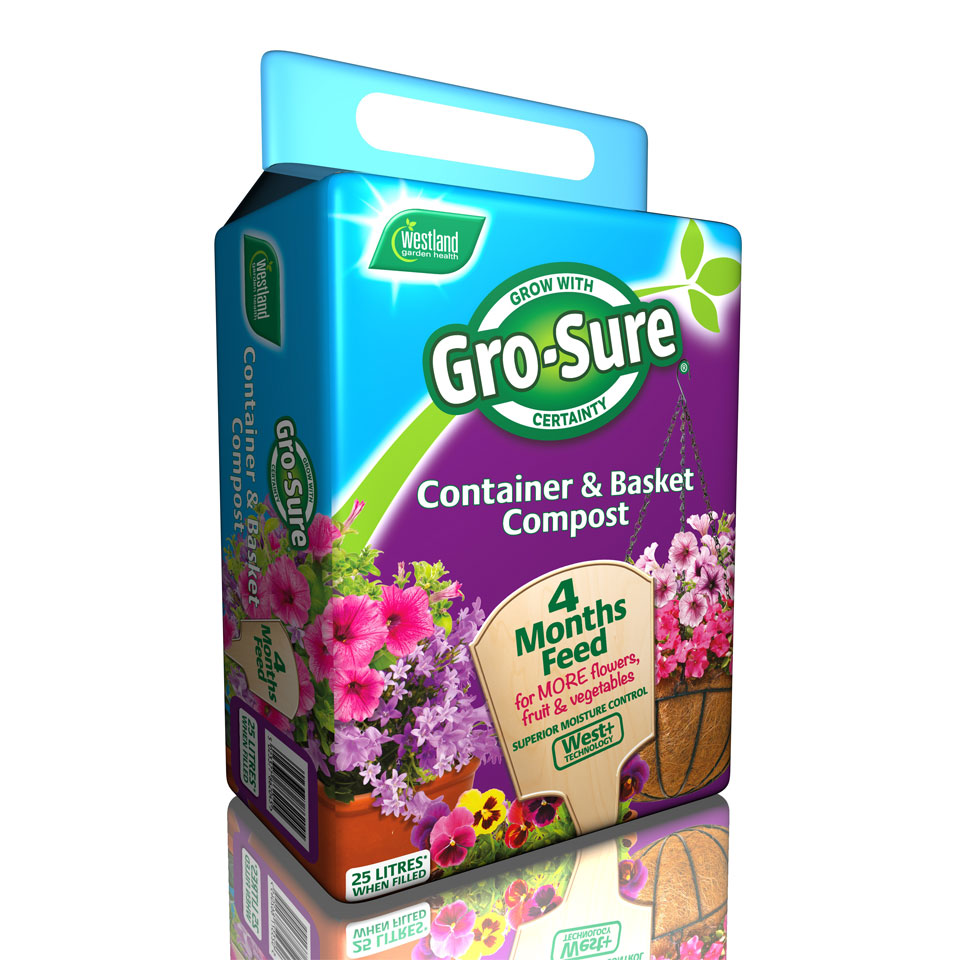 Gro-Sure Container & Basket Compost 25 Litres