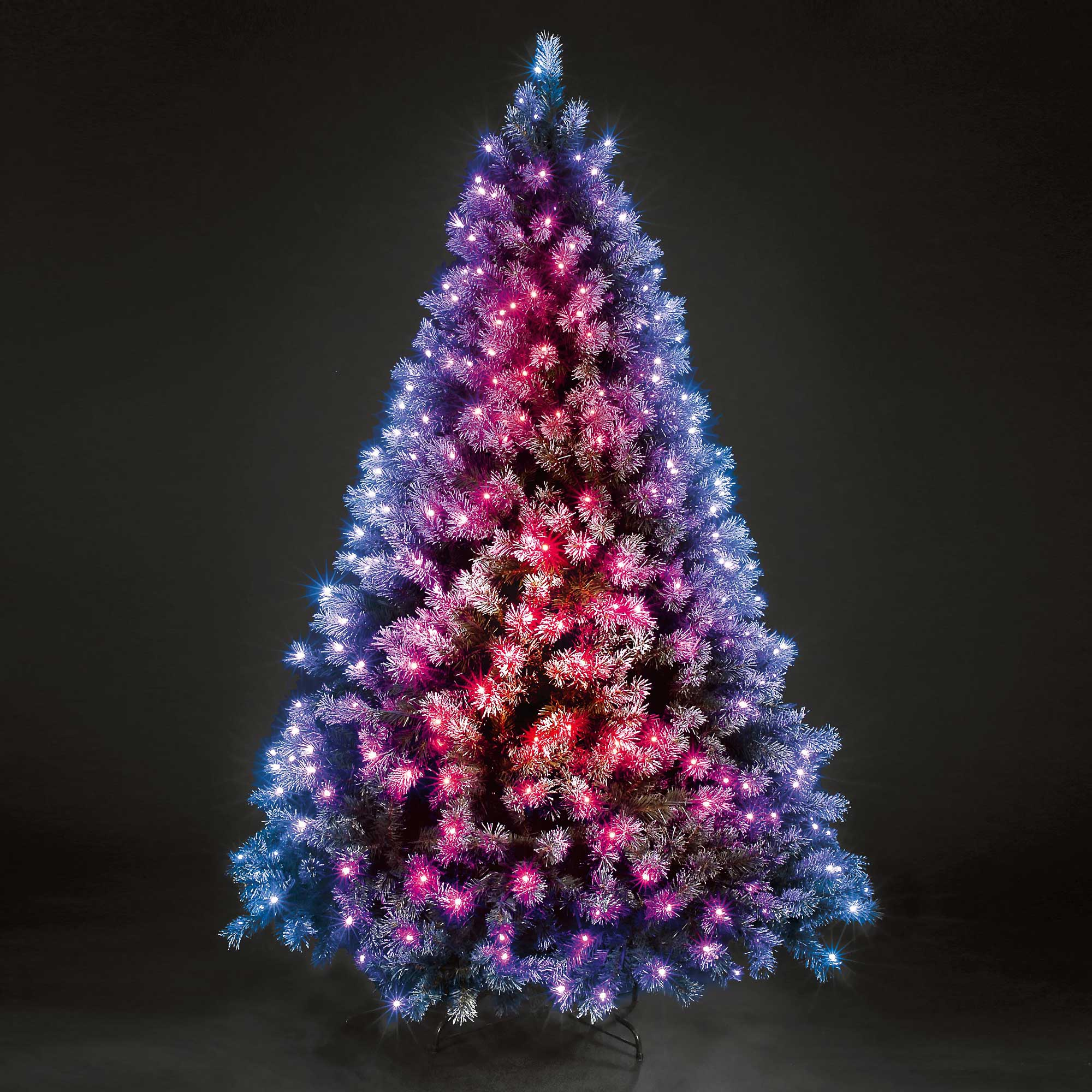5ft Frosted Baltic Spruce Colour Changing LED Christmas Tree