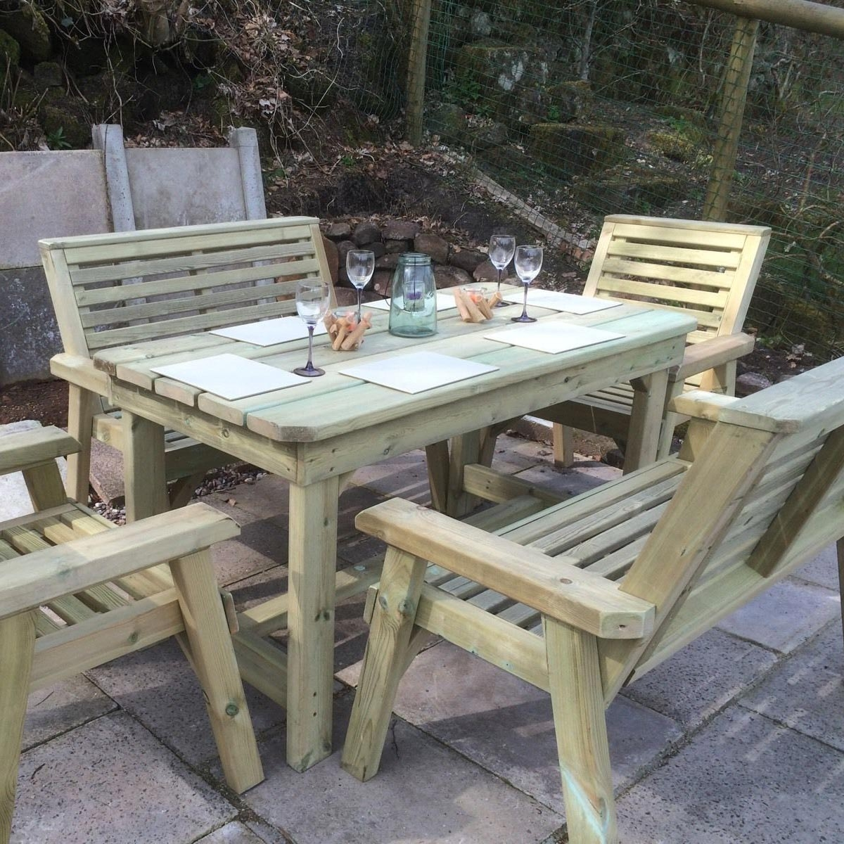 Churnet 6 Seater Table Set