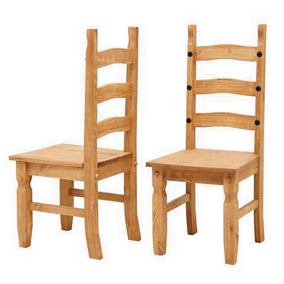 Corona Solid Waxed Pine 5ft Dining Set Table With 4 Chairs