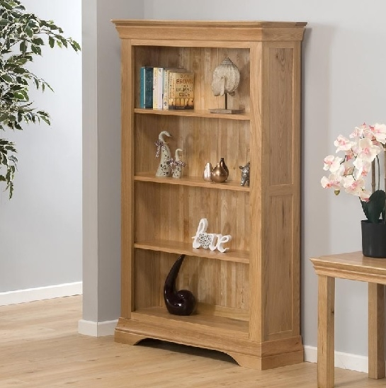 Constance 155cm/5ft Open Bookcase Natural/Oil Stained