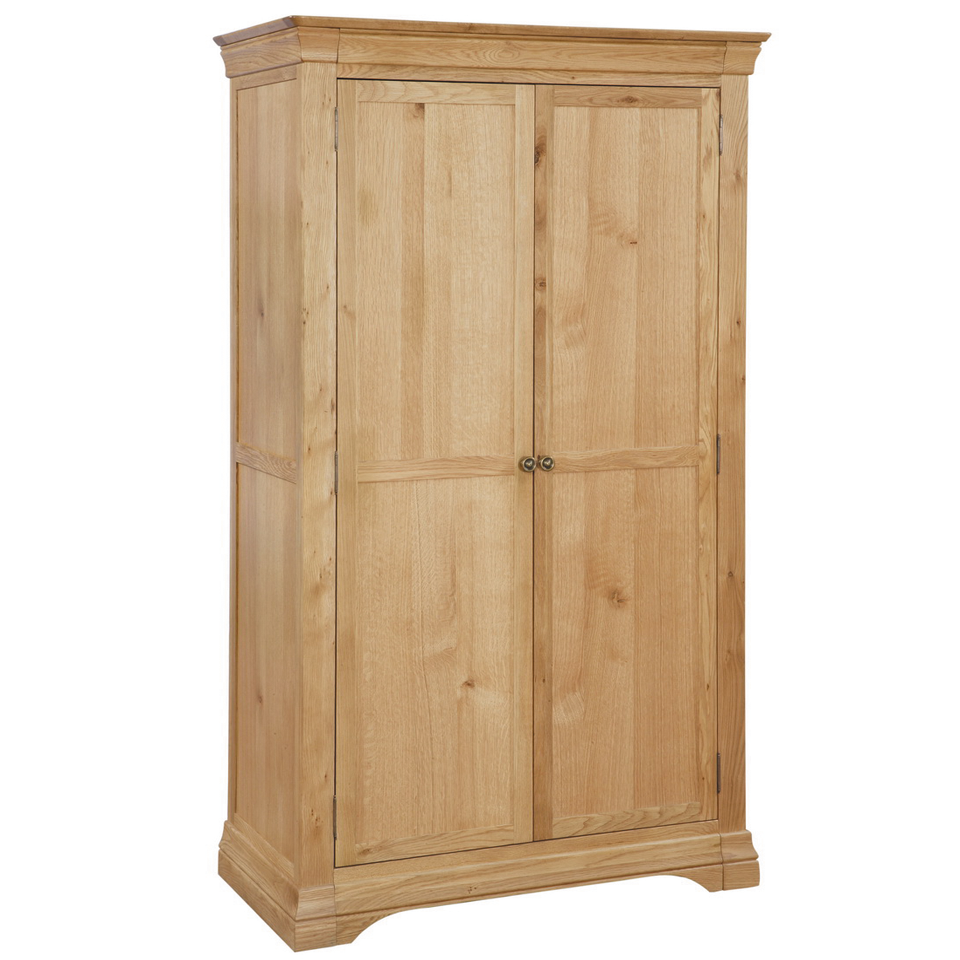 Constance Oak 2 Door Full Hanging Double Wardrobe