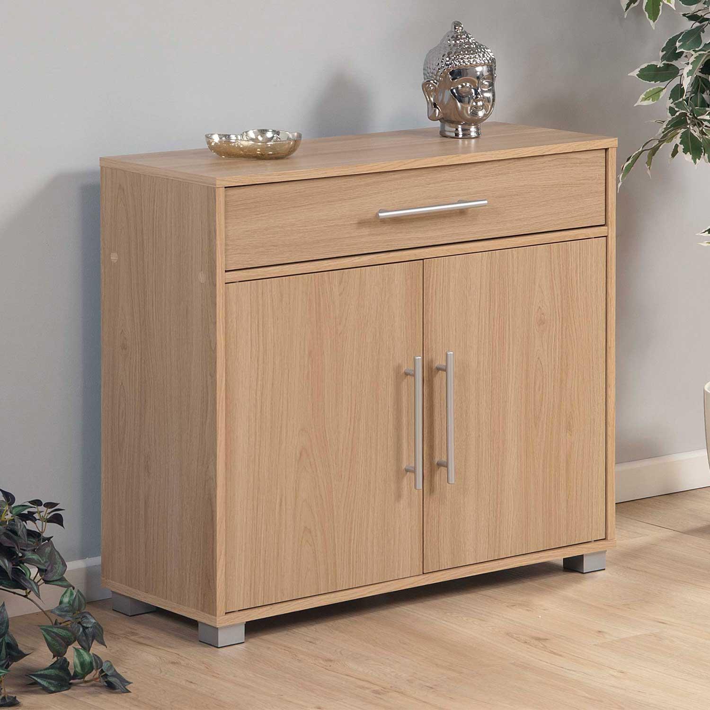 sorrento wooden 2 door sideboard with drawer