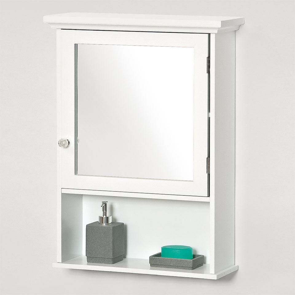 Savona Bathroom Mirrored Wall Cabinet