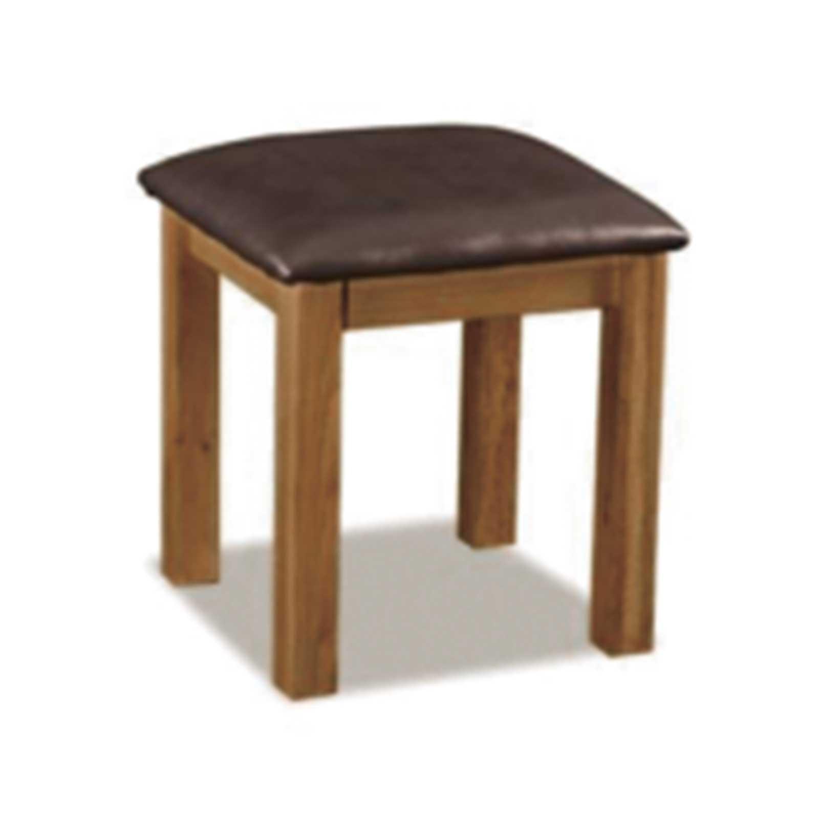 Tavistock Oak Stool with Bi-Cast Leather Seat